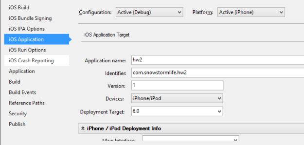 iOS Identifier property